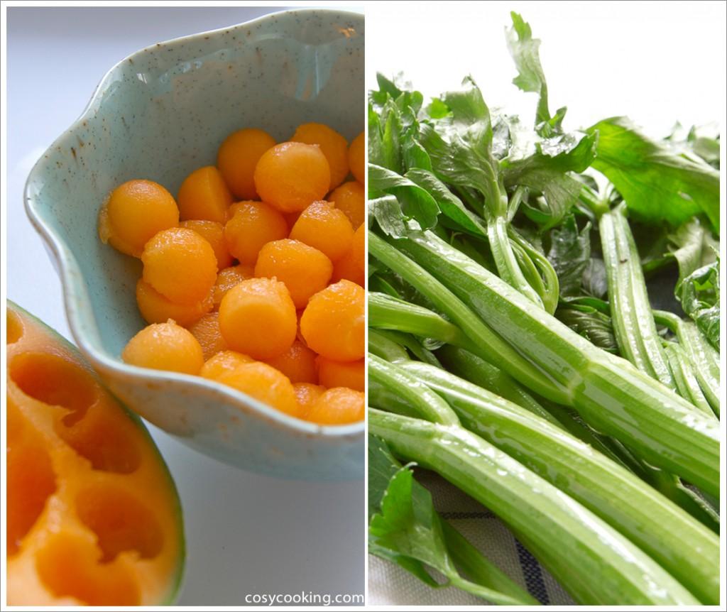 Blog event melone charentais bleichsellerie salat for Melone charentais